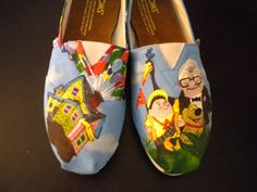 Custom Hand Painted Toms UP!  $100