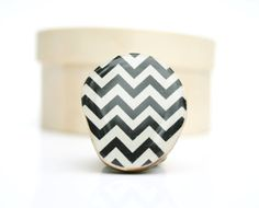 Chevron Ring Black and white eco friendly by starlightwoods, $28.50