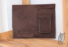 Sleeve for iPad - handmade - leather case