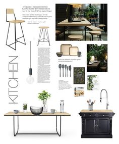 """Kitchen"" by deborah-lefert ❤ liked on Polyvore featuring interior, interiors, interior design, home, home decor, interior decorating, Tronk Design, Asplund, Studioilse and LSA International"