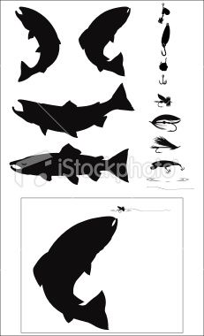 fish silhouette - Google Search