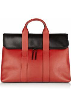 3.1 Phillip Lim|31 Hour two-tone leather tote|NET-A-PORTER.COM