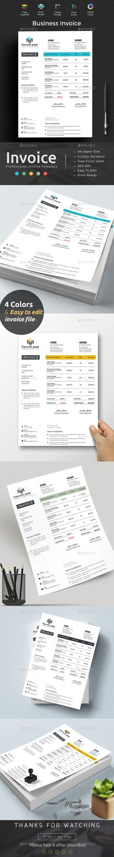Corporate Invoice Stationery and Proposals - how to print invoices