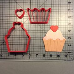 Heart Cupcake 100 Cookie Cutter Set
