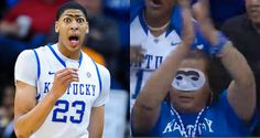 Basketball's most famous unibrow and the nations best player Anthony Davis. Go Cats for my bracket !