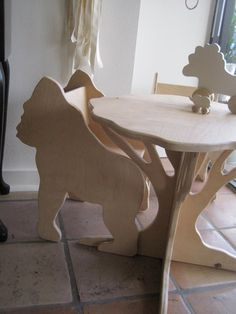Tree Table in birch from The Child's Menagerie by palomasnest