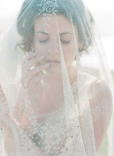 Exquisite lace veil. Image by Corbin Gurkin, featured in the Fall 2014 issue of Weddings Unveiled.