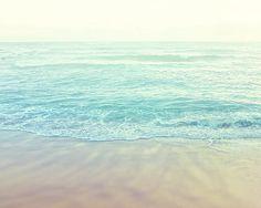 Beach photography coastal sea green blue pastel by EynePhotography, $15.00