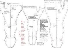 Tights pattern for fashion dolls - for personal use only