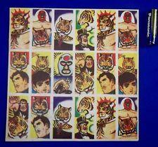 1960's Tiger Mask Japanese Menko Card Vintage Toy wrestling anime Japan wrestler