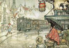 Anton Pieck a Dutch painter) Anton Pieck, Kay Nielsen, Dutch Painters, Dutch Artists, Pretty Pictures, Edmund Dulac, Vintage Art, Illustrators, Cool Art