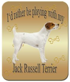 I'd Rather Be Playing With My Jack Russell Terrier Mouse Pad