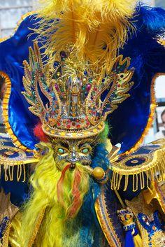 Moreno dancer at Oruro Carnival, Bolivia. An unusual alternative to Rio Carnival.