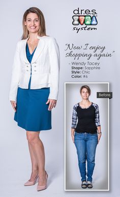 """DRES System Certified Personal Stylists - Sapphire Shape Before & After 