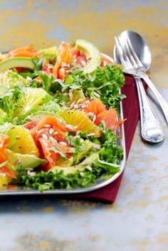 Appelsiini-avokado-lohisalaatti | K-ruoka