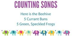 15 counting themed finger plays and nursery rhymes. Includes all of the words and actions PLUS a free printable song list.