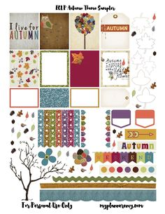 Free Printable Autumn Sampler for the Erin Condren Life Planner {a set for The Happy Planner is also available}