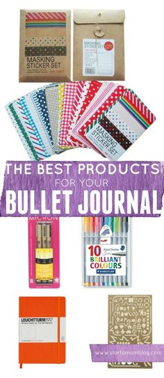 The best products for your bullet journal. I love these items and I'm adding…