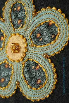 reverse wool applique, The Raspberry Rabbits, Michelle May, Valdani