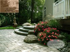 Paver Patio and Stone Steps in Bergen County, NJ by summerset gardens, via Flickr