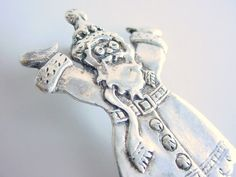 Sterling Silver Vintage St Nick Pin Brooch 1980's by CraZyDreamZ, $30.00