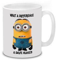 Beer Stein What A Difference A Dave Makes Funny Novelty Birthday Pint Glass Moderate Price Other Bar Tools & Accessories Home & Garden