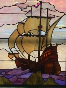 How can I not use this...my family owned it/came over in it...but where to put it?  Stained glass ship