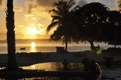 Let's relax, watch the sunset! #NiraCompass #beach #sunset #Mauritius