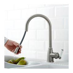 ELVERDAM Single lever kitchen faucet, pull-out, stainless steel color pull-out/stainless steel color -