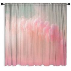 Abstract Pastel Pink Window Curtain - PERSONALIZE FOR FREE!