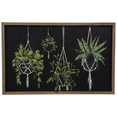 Chalkboard Wall Art, Chalkboard Drawings, Chalkboard Designs, Hobby Lobby Flowers, Marker, Black Accent Walls, Wall Decor Online, Plant Art, Hanging Plants