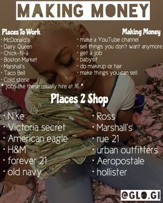 ***Don't only make money to shop for clothes items constantly. Girl Advice, Girl Tips, Girl Life Hacks, Girls Life, Schul Survival Kits, Making Money Teens, Jobs For Teens, Beauty Hacks For Teens, Teen Money
