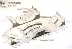Resultado de imagem para projeto de uma pista de skate