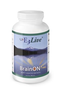 E3Live BrainON Original (16 oz) - Organic E3Live enhanced with BrainON® offers a significant concentration of phenylethylamine (PEA) as found in AFA blue-green algae.  PEA is a naturally occurring extract that promotes clear thinking and focus to give you optimal cognitive function.  $37.95 per 16 oz. bottle (but save if you order 6+ bottles on www.e3live.com).   Also comes in an 8 oz size. #e3live #brainon