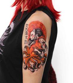 shoulder tattoo Kitsune
