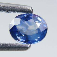 0.64 ct Marvelous Blue Color! Fine Oval Shape 5x4mm Natural Blue Sapphire