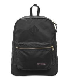 Now available on our store K-MOMO.COM JanSport Super FX.... Check it out here! http://k-momo.com/products/jansport-super-fx-black-gold-backpack?utm_campaign=social_autopilot&utm_source=pin&utm_medium=pin