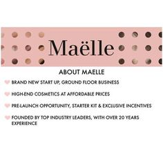 Curious about Maelle? Message me for more dets!  Link in profile as well to read more.