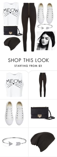 """""""Meow- Summer Flow"""" by iistyle-meii ❤ liked on Polyvore featuring Miss Selfridge, Balmain, Converse, Jimmy Choo and Bling Jewelry"""