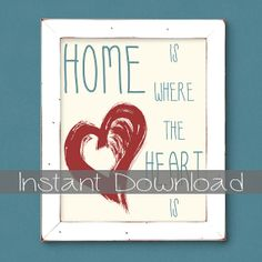 Subway Art  Home Is Where The Heart Is by Fishtitch on Etsy, $3.00