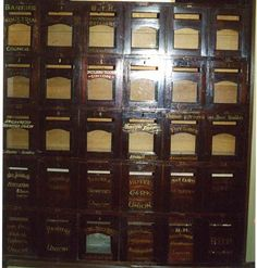 letterboxes at Broken Hill Trades Hall