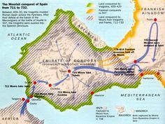 Moors Take Iberian Peninsula 711-732