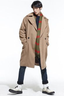 Redhomme Basic Double Breasted CoatLayer up in this basic double breasted coat. With wide notch lapel, long sleeves, flap pockets, and relaxed fit. Fully-lined for extra warmth and best paired with any winter ensemble.