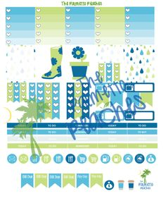April Showers - Free April Planner Printable - The Palmetto Peaches - palmsinatl.com
