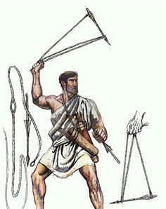 El arma se llama cestrofendron o cestro también llamado kestrofendron o kestro.  Fue usado por los macedonios del rey Perseo en el 168 a. C. durante la tercera guerra macedonica.