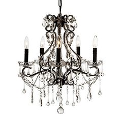 Another chandelier (in my mind...you can't ever have enough). This particular one was bought at Z Gallerie sadly right before they went out of business in our area. On the flip side, I did get it new @ 40% off. :)  Gotta <3 a deal!
