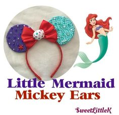 Handmade little mermaid Mickey ears!