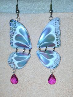 Polymer Clay Butterfly Earrings