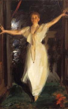 Isabella Stewart Gardener at her Museum - by John Singer Sargent