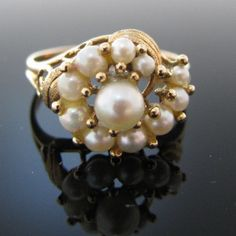 #Pearl #Ring In 18K #Yellow #Gold #Jewelry #The #Antiques #Room #Galway #Ireland Pearl Ring, Pearl Jewelry, Gold Jewelry, Jewellery, Diamond Rings, Diamond Engagement Rings, Galway Ireland, Van Cleef Arpels, Unique Vintage